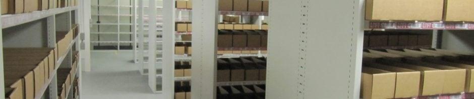 Installed shelving