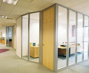 office glass partitions bedford