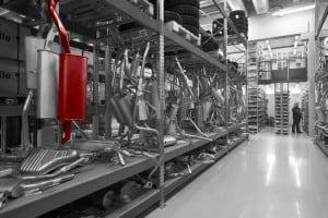 automotive spare parts storage P90 exhausts