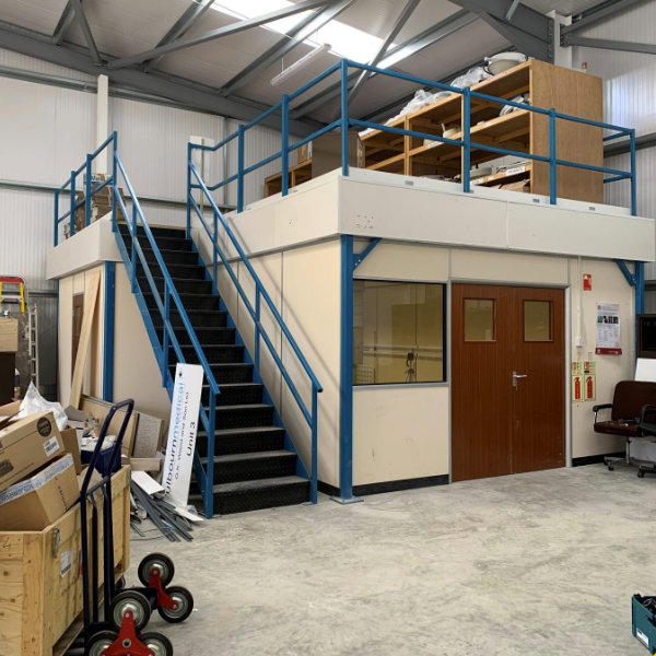 Here we can see the completed mezzanine floor