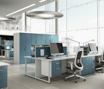 Duck Egg Blue Office Interior