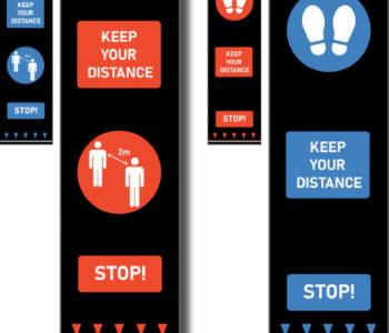 social distancing door mats