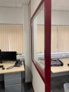 Half Glazed Partition Screens in office