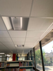 Suspended Ceiling integrating with parts of this 1960's building